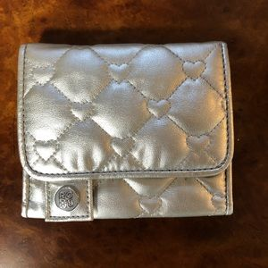 Roxy Quilted Heart Silver Wallet